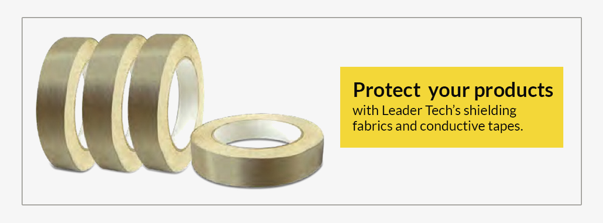 shielding fabrics and conductive tapes