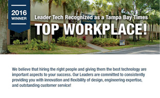 2016 Top Workplace - Tampa Bay Times