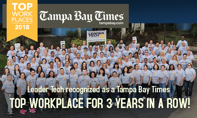 Leader Tech Wins Top Employer Award
