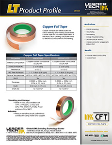 Copper Foil Tapes Product Profile