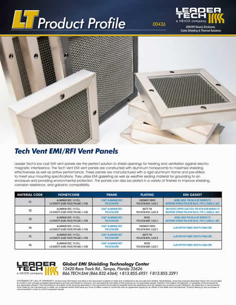 Tech Vent EMI/RFI Vent Panels